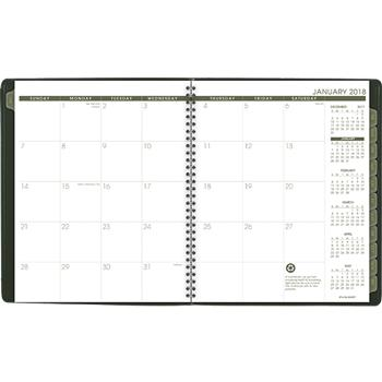 at a glance recycled monthly planner 9 x 11 green 2018