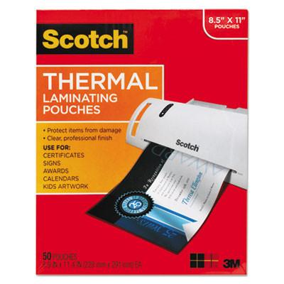 Scotch™ Letter Size Thermal Laminating Pouches, 3 mil, 11 1/2 x 9, 50/Pack