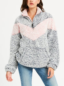 Sweat-shirt de Sherpa avec Zip