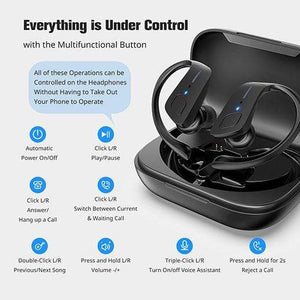 holyhigh earbuds HolyHigh Bluetooth 5.0 High-Tech 35H Play Time Waterproof Earbuds