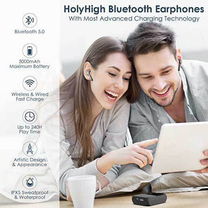 holyhigh earbuds HolyHigh True Wireless Earbuds Bluetooth 5.0 240H Playtime 5000mAh