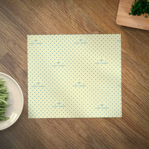 100% Cotton Beeswax Food Wrap - Singles