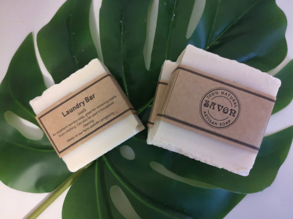 Laundry-bar-soap-on-leaf