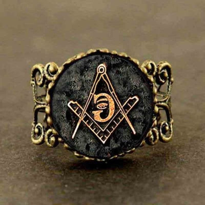 Bague Steampunk illuminati - Réglable / 6 / Antique Bronze Plated - bague illuminati