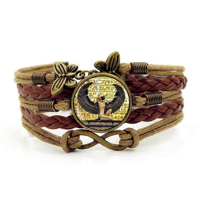 Bracelet egyptien Vintage - Marron - bracelet egyptien