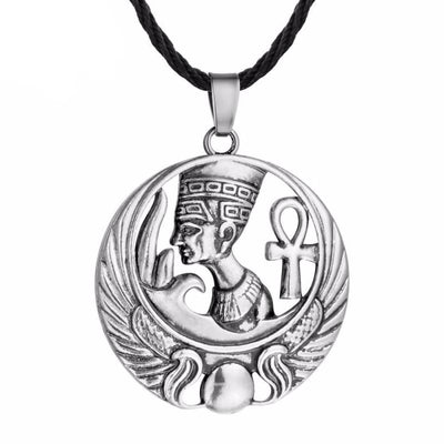 Collier egyptien ankh & Pharaon - collier egyptien