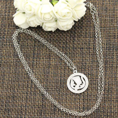 New Fashion Egyptian Queen Nefertiti Pendants Round Cross Chain Short Long Mens Womens DIY Silver Color Necklace Jewelry Gift - 200000162