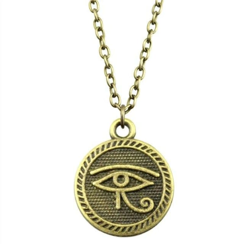 Collier il égyptien dHorus - Bronze Antique - Collier il dHorus