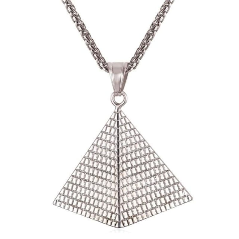Collier Pyramide - Acier Inoxydable - collier egyptien