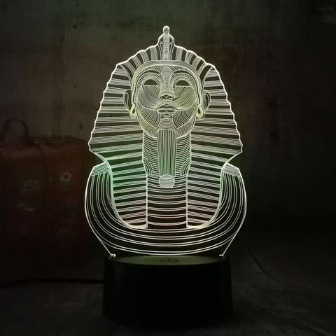 Lampe Égyptienne Pharaon 3D - lampe egypte