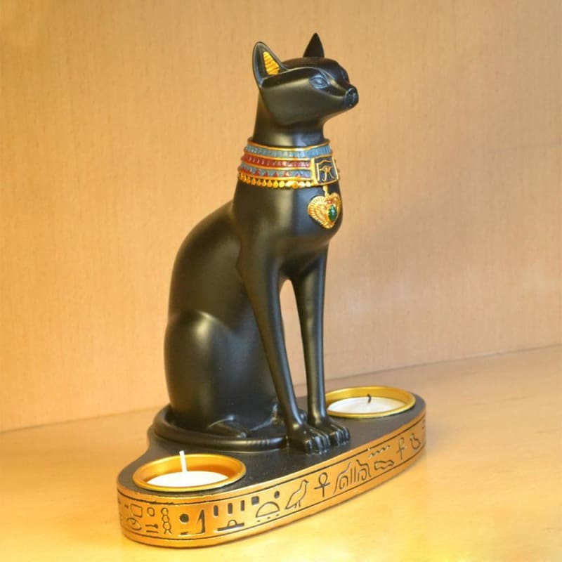 Porte bougie Egyptien chat - statuette egyptienne