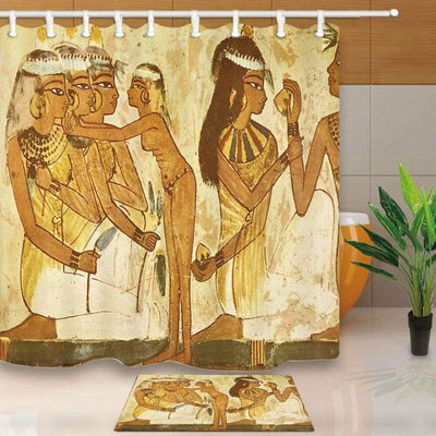 Egyptian papyrus woman Shower Curtain Home Bathroom Fabric & 12hooks - 154006