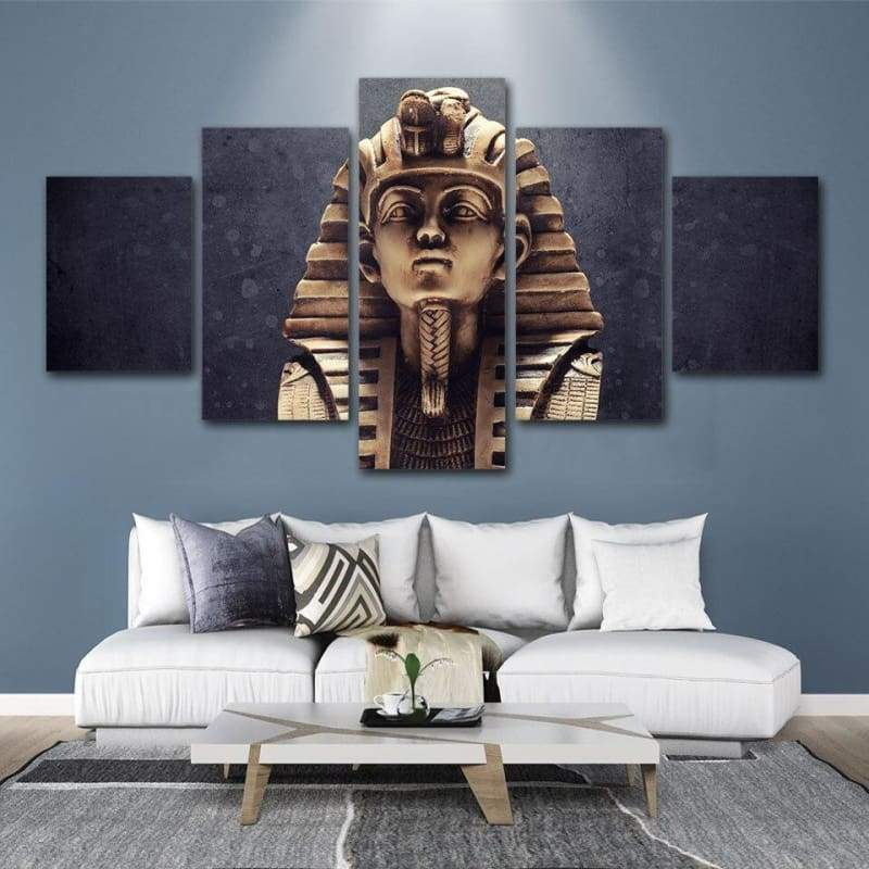 DH Prints Canvas Wall Art 5 Panels Painting Egyptian Pharaoh Posters Abstract Wall Pictures for Living Room Home Decor F1205 - 1704