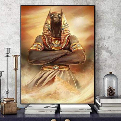 5D DIY diamond embroidery Anubis And The Pyramids Ancient Egypt Egyptian diamond painting cross stitch mosaic Home Decor Gift - 200003953