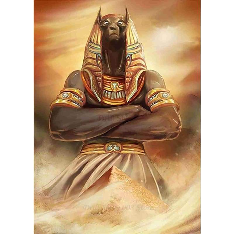 5D DIY diamond embroidery Anubis And The Pyramids Ancient Egypt Egyptian diamond painting cross stitch mosaic Home Decor Gift - MY2392-1 /