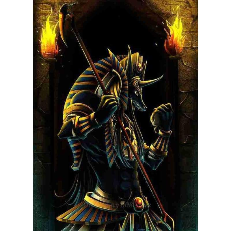 5D DIY diamond embroidery Anubis And The Pyramids Ancient Egypt Egyptian diamond painting cross stitch mosaic Home Decor Gift - MY2392-5 /