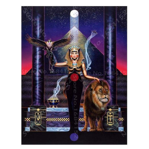 Diamond Painting Egyptian Woman,lion,5D Rhinestones Diamond Painting cross stitch Diy Diamond Embroidery Mosaic Pictures A520 - 200003953