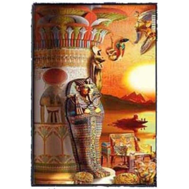 Egyptian God New 3d Diamond embroidery 5D DIY Diamond Painting Mosaic Round/square Rhinestone Embroidery Cross Stitch gift ZC386 - A /
