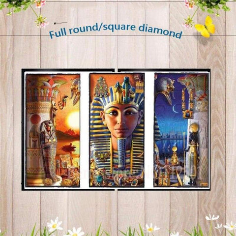 Egyptian God New 3d Diamond embroidery 5D DIY Diamond Painting Mosaic Round/square Rhinestone Embroidery Cross Stitch gift ZC386 - 200003953