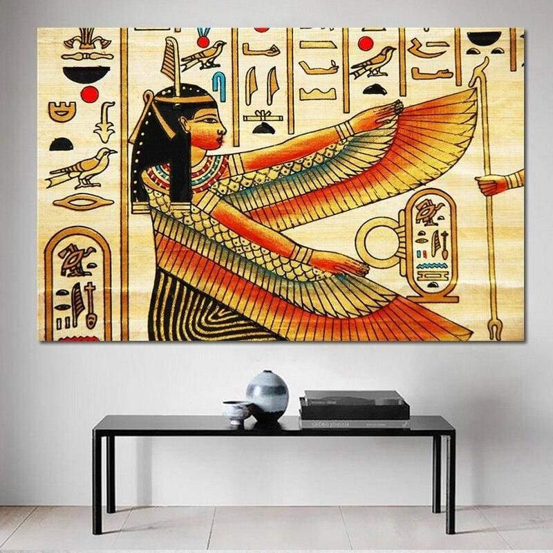 Design with Elements of Ancient Egyptian History Illustration Pattern Posters and Print Canvas Wall Art Home Decorative - 1704