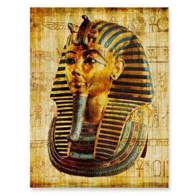 Egypt Wall Art Canvas Poster Parchment Paper Style Old Antique Poster Prints Retro Egyptian Picture Wall Decor King Tut Queen - 13x18 cm No