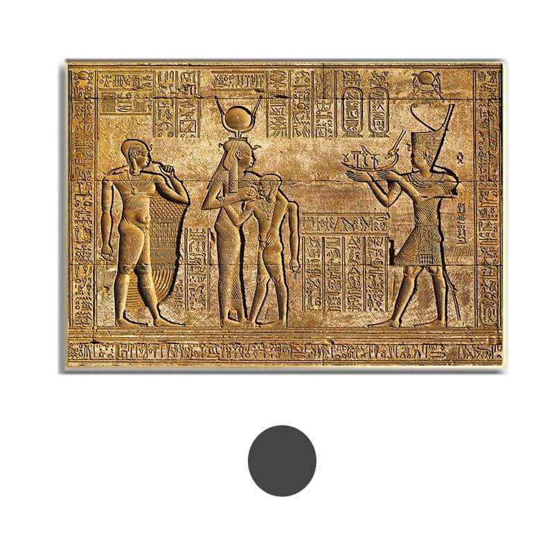 Egyptian Hieroglyphs Fresco Canvas Painting Queen Hatshepsut Temple Stone Carving Pharaoh Ancient Egypt Wall Mural Poster Print - 10x15cm No