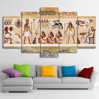 HD Printed 5 Piece Canvas Art Paintings Wall Egyptian Pictures Modular Ancient Dynasty Poster Home Decor Free Shipping no frame - 30x40
