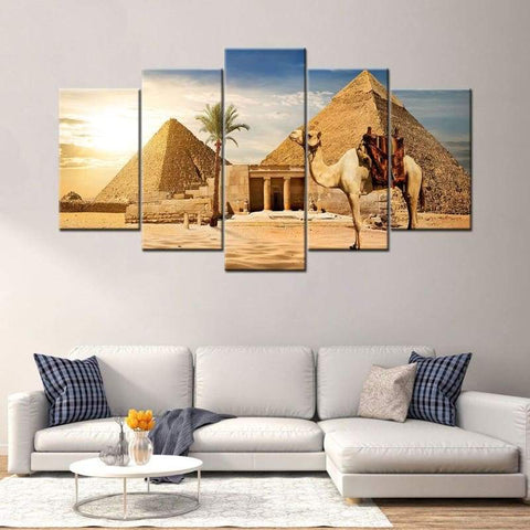 Pyramids Egyptian 5 Piece Canvas Paintings Modern Poster Wall Art Picture For Home Decor - 1704
