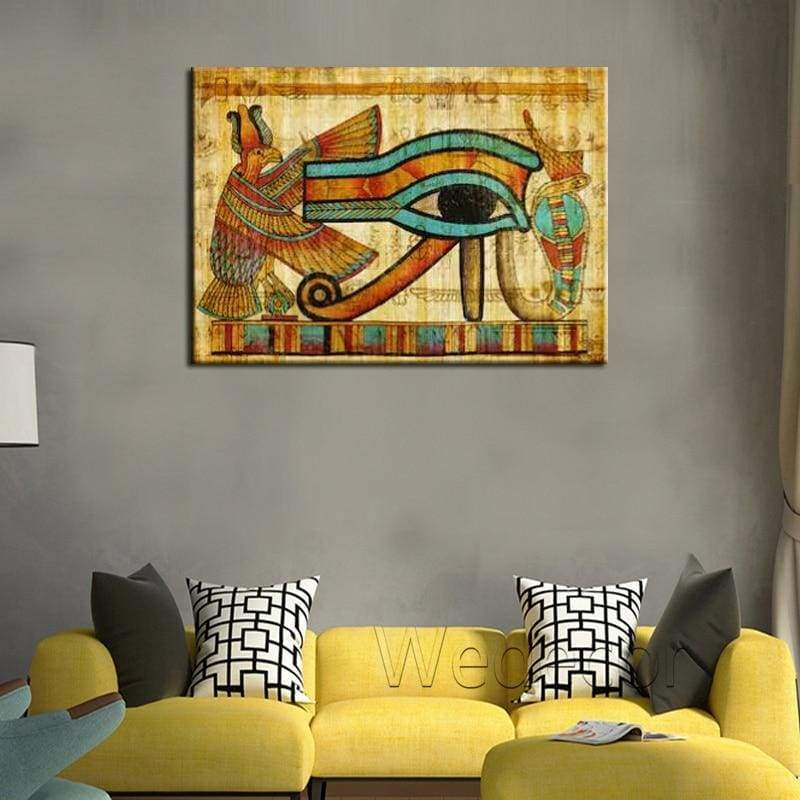 Old egyptian canvas wall art prints painting ancient egyptian papyrus poster for living room wall decor Home Decor - 1704