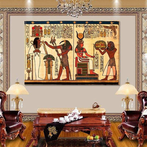 Retro Classical with Elements of Egyptian Ancient History Posters and Prints Wall Art Home Decoration Canvas Painting - 1704