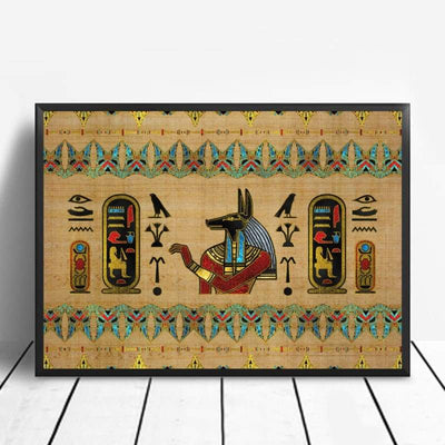 Abstract Egyptian Ornaments on Papyrus Egypt Goddess Eye Art Poster Art Canvas Poster Wall Picture for Living Room - 20x30cm / 1 - 1704