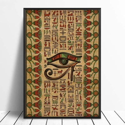 Abstract Egyptian Ornaments on Papyrus Egypt Goddess Eye Art Poster Art Canvas Poster Wall Picture for Living Room - 20x30cm / 10 - 1704