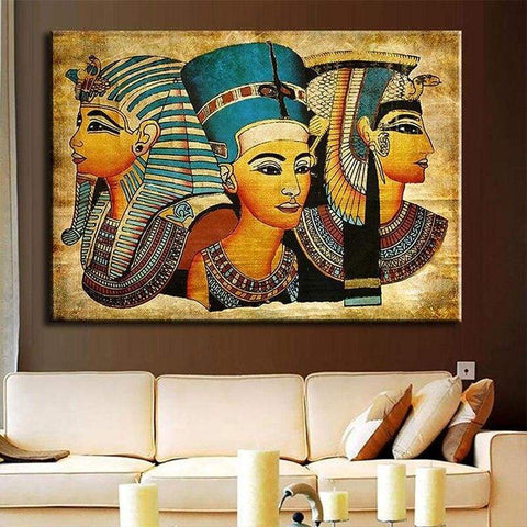 Modern Egyptian Pharaoh Canvas Art Picture Oil Painting For Home Decoration - 1704