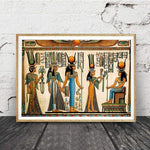 Egypt Wall Art Canvas Painting Parchment Paper Style Old Antique Poster Prints Retro Egyptian Picture Wall Decor King Tut Queen - 1704