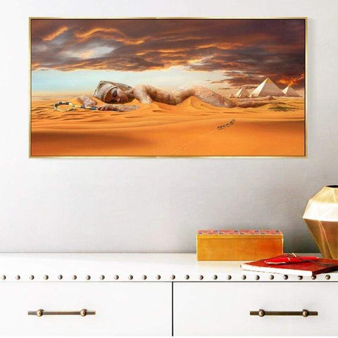 Abstract Landscape Posters and Prints Wall Art Canvas Painting Egyptian Desert Pyramid Pictures for Living Room Home Decoration - 1704