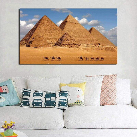 Egyptian Desert Pyramid Canvas Painting Print Living Room Home Decoration Modern Wall Art Oil Painting Poster Landscape Pictures - 1704