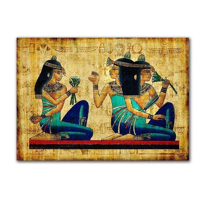 GoldLife Egyptian Pharaoh Retro Canvas Painting Mural Wall Painting Art for Living Room Bed Room Decoration No Frame - 15X20CM No frame /