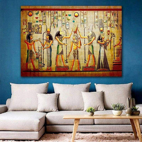 GoldLife Egyptian Pharaoh Retro Canvas Painting Mural Wall Painting Art for Living Room Bed Room Decoration No Frame - 1704