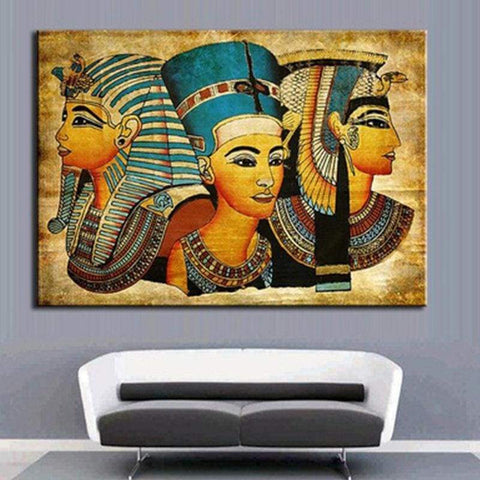 Abstract Oil Painting Art Canvas and Print Egyptian Pharaoh Decor for for Home Decoration Modern Home Decor Wall Picture - 1704