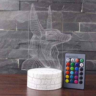 Anubis theme 3D Lamp LED night light 7 Color Change Touch Mood Lamp Christmas present Dropshippping - 39050508