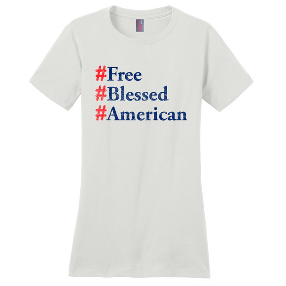 Free, Blessed, American Women's T-Shirt
