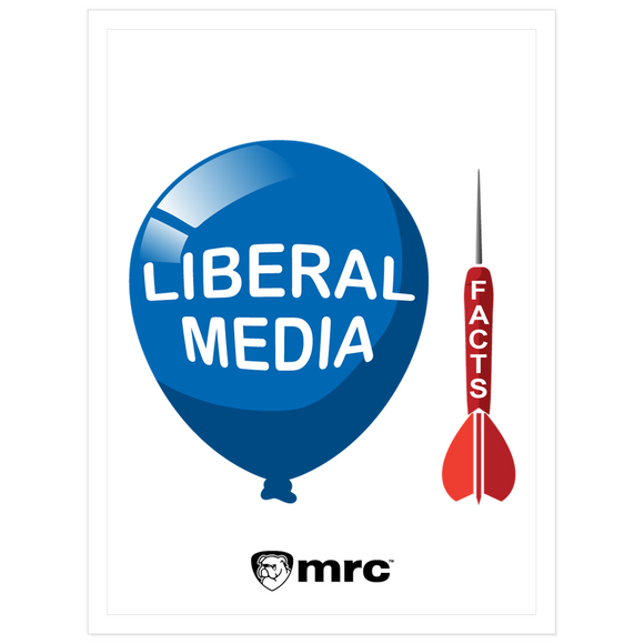 Facts and Liberal Media Kiss Cut Sticker