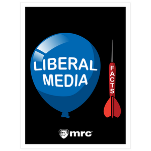 Facts and the Liberal Media Kiss Cut Sticker (Black)