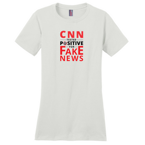 """CNN Tested Positive for Fake News"" Women's T-Shirt"