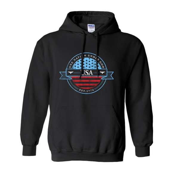 One Nation Under God Men's Hoodie