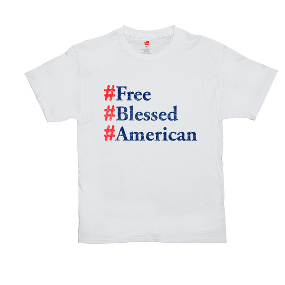 """Free, Blessed, American"" Men's T-Shirt"