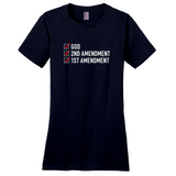 """God, 2nd Amendment, 1st Amendment"" Women's T-Shirt"