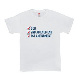 """God, 2nd Amendment, 1st Amendment"" Men's T-Shirt"