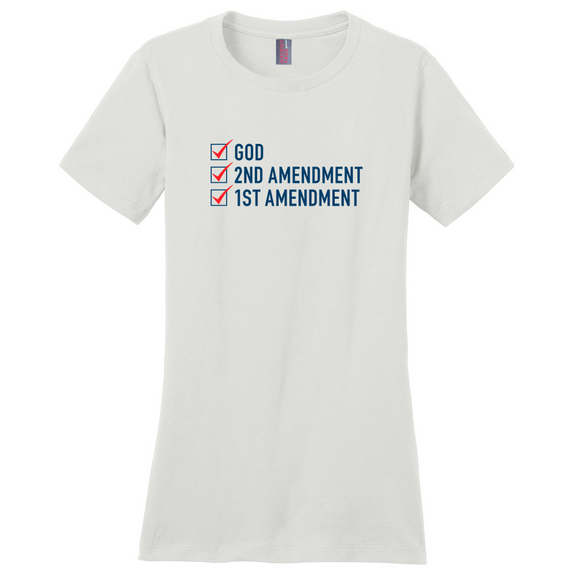 God, 2nd Amendment, 1st Amendment Women's T-Shirt