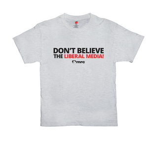"""Don't Believe the Liberal Media"" Men's T-Shirt"